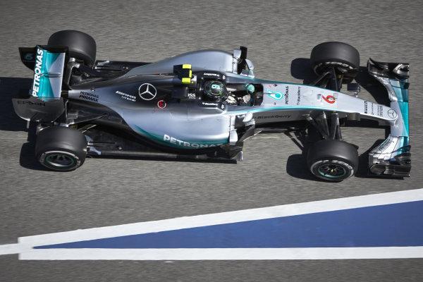Circuit de Catalunya, Barcelona, Spain. Friday 8 May 2015. Nico Rosberg, Mercedes F1 W06 Hybrid. World Copyright: Steve Etherington/LAT Photographic. ref: Digital Image SNE19647