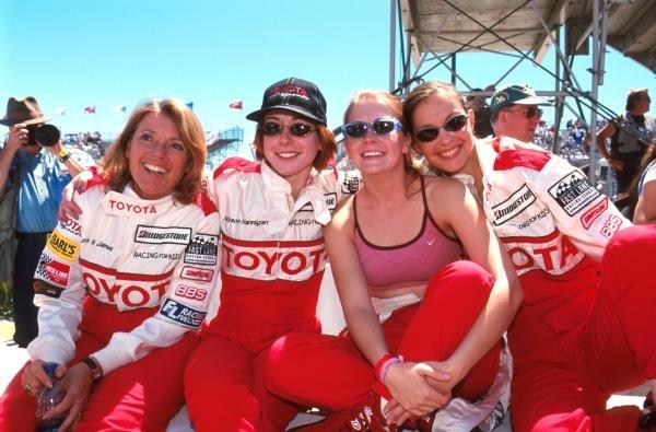 Lyn St James (USA), Alyson Hannigan (USA), Melissa Joan Hart (USA) and Ashley Judd (USA) took partToyota Celica Celebrity race - Long Beach, California, USA, 15 April 2000