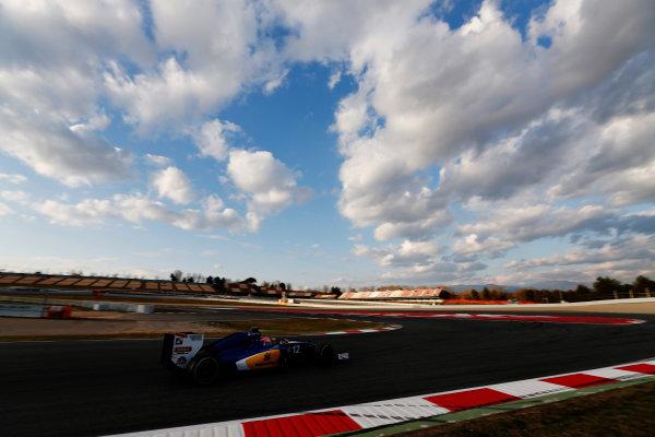 Circuit de Catalunya, Barcelona, Spain Thursday 25 February 2016. Felipe Nasr, Sauber C35 Ferrari. World Copyright: Sam Bloxham/LAT Photographic ref: Digital Image _SBL8600