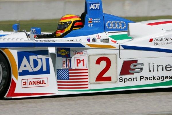Frank Biela (GER) Champion Racing Audi R8.American Le Mans Series, Rd7, Road America, Elkhart Lake, USA, 19-21 August 2005.DIGITAL IMAGE