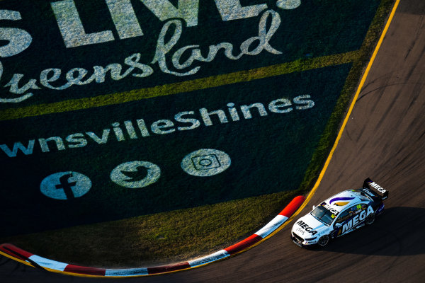 2017 Supercars Championship Round 7.  Townsville 400, Reid Park, Townsville, Queensland, Australia. Friday 7th July to Sunday 9th July 2017. Jason Bright drives the #56 MEGA Racing Ford Falcon FG-X. World Copyright: Daniel Kalisz/ LAT Images Ref: Digital Image 090717_VASCR7_DKIMG_6142.NEF