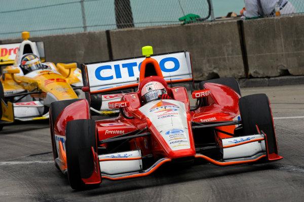 1-2 June, 2012, Detroit, Michigan, USAE. J. Viso (#5) and Ryan Hunter-Reay (#28).(c)2012, F. Peirce WilliamsLAT Photo USA