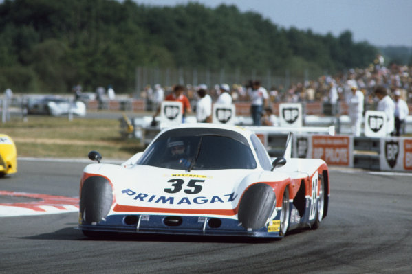 1982 Le Mans 24 hours. Le Mans, France. 19th - 20th June 1982. Yves Courage / Michel Dubois / Jean-Philippe Grand (Cougar C01 Ford), retired, action. World Copyright: LAT Photographic. Ref: 82LM32.