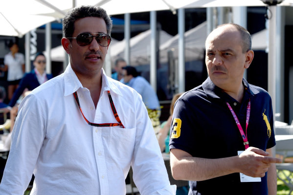 Shaikh Salman bin Isa Al Khalifa (BRN) Chief Executive of Bahrain International Circuit at Formula One World Championship, Rd1, Australian Grand Prix, Qualifying, Albert Park, Melbourne, Australia, Saturday 14 March 2015.