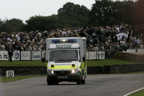 2007 Goodwood Revival Meeting.  Goodwood, West Sussex. 1st - 2nd September 2007.  RAC TT Celebration Race.  Martin Stretton is taken to hospital. World Copyright: Gary Hawkins/LAT Photographic  ref: Digital Image Only