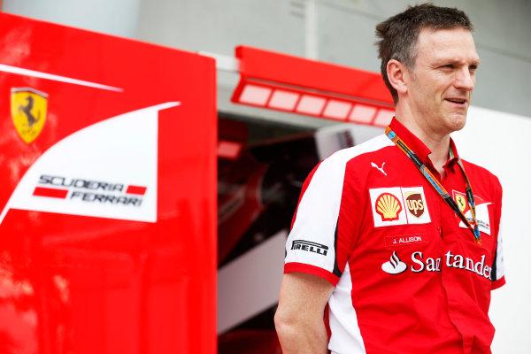 Sepang International Circuit, Sepang, Kuala Lumpur, Malaysia. Friday 27 March 2015. James Allison, Technical Director, Ferrari. World Copyright: Alastair Staley/LAT Photographic. ref: Digital Image _R6T4328