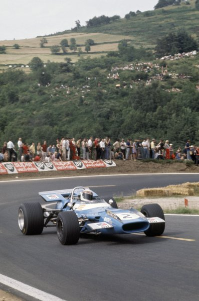 1969 French Grand Prix.Clermont-Ferrand, France. 4-6 July 1969.Jackie Stewart (Matra MS80-Ford Cosworth), 1st position.World Copyright: LAT PhotographicRef: 35mm transparency 69FRA10