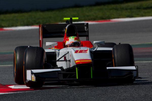 Circuit de Barcelona Catalunya, Barcelona, Spain. Tuesday 14 March 2017. Roberto Merhi (ESP, Campos Racing). Action.  Photo: Alastair Staley/FIA Formula 2 ref: Digital Image 585A8394