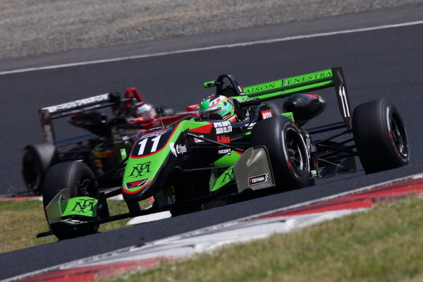 Round 8. Sacha Fenestraz, B-Max Racing with Motopark Dallara F314 Volkswagen, 2nd action. Photo by Masahide Kamio