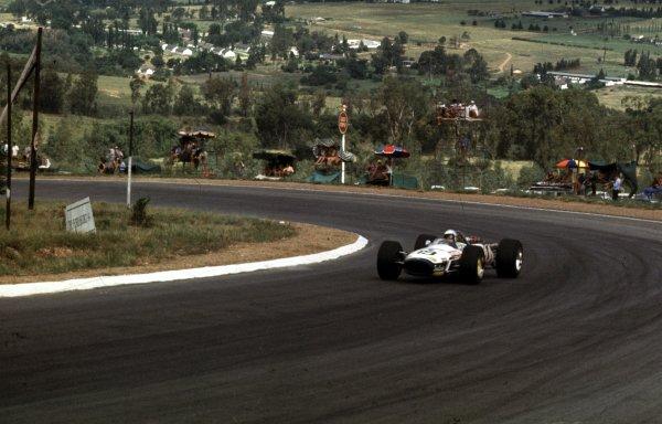 1969 South African Grand Prix.Kyalami, South Africa.27/2-1/3 1969.Peter de Klerk (Brabham BT20 Repco).Ref-69 SA 49.World Copyright - LAT Photographic