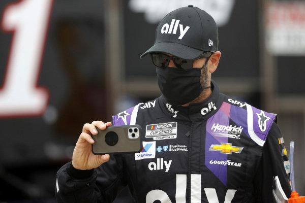 Jimmie Johnson, Hendrick Motorsports Chevrolet Ally, Copyright: Chris Graythen/Getty Images.