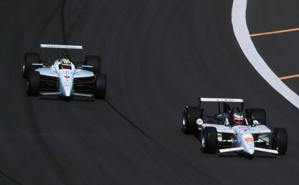 1999 CART Chicago GP, 22/8/99Castro Neves chases Papis-1999, Michael L. Levitt, USALAT PHOTOGRAPHIC