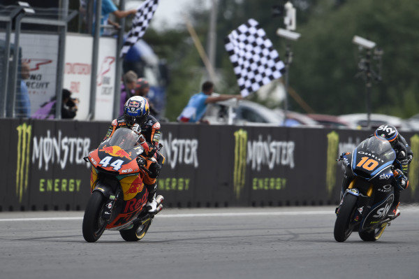 Race winner Miguel Oliveira, Red Bull KTM Ajo.