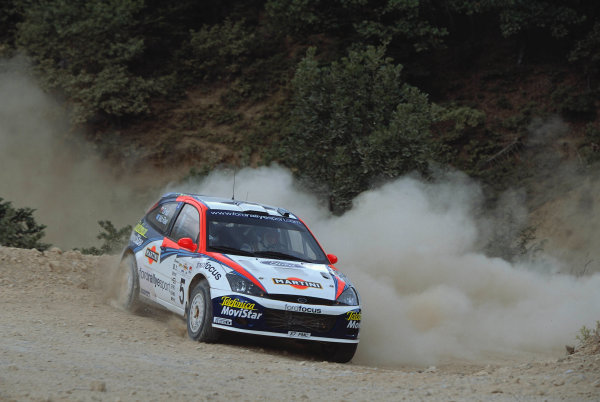 2002 World Rally ChampionshipAcropolis Rally, Greece. 13th - 16th June 2002.Colin McRae/Nicky Grist, Ford Focus RS WRC02, action.World Copyright: McKlein/LAT Photographicref: 35mm Image A18