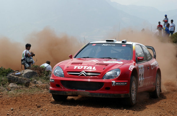 World Rally Championship, Acropolis Rally, June 13-16, 2002.Sebastien Loeb on stage 3.Photo: Ralph Hardwick/LAT