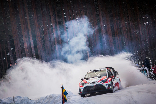 Juho Hanninen (FIN) / Kaj Lindstrom (FIN), Toyota Gazoo Racing Toyota Yaris WRC at World Rally Championship, Rd2, Rally Sweden, Day Three, Karlstad, Sweden, 12 February 2017.