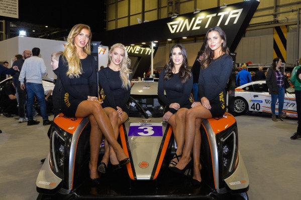 Ginetta promotional girls.