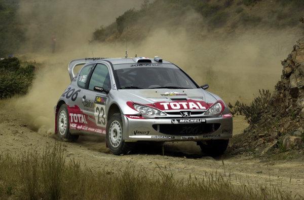 World Rally Championship, Cyprus Rally, April 18-21, 2002.Gilles Panizzi during shakedownPhoto: Ralph Hardwick/LAT