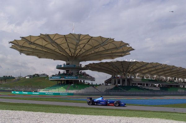 2001 Malaysian Grand Prix.Sepang, Kuala Lumpur, Malaysia. 16-18 March 2001.Jean Alesi (Prost AP04 Acer).World Copyright - Steve Etherington/LAT Photographic.ref: 18mb Digital Image
