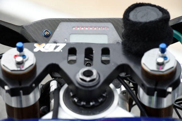 2017 Moto2 Championship - Round 16 Phillip Island, Australia. Thursday 19 October 2017 Xavi Vierge, Tech 3 Racing bike detail World Copyright: Gold and Goose / LAT Images ref: Digital Image 698230