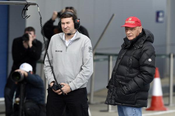 Niki Lauda (AUT) Mercedes AMG F1 Non-Executive Chairman. Formula One Testing, Jerez, Spain, Day Two, Wednesday 29 January 2014.