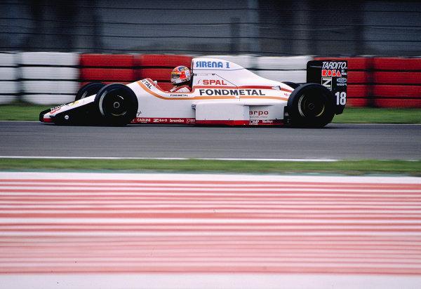 1989 San Marino Grand Prix.Imola, Italy.21-23 April 1989.Piercarlo Ghinzani (Osella FA1M Ford).Ref-89 SM 21.World Copyright - LAT Photographic