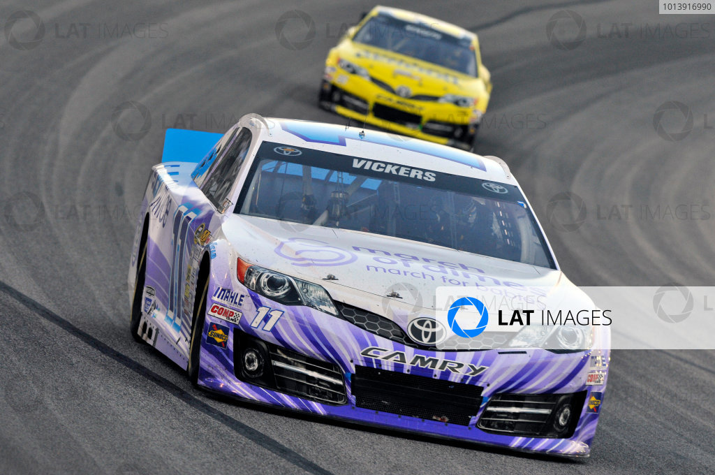 11-13 April, 2013, Fort Worth, Texas USA Brian Vickers, FedEx Office/March of Dimes Toyota Camry and Matt Kenseth, Dollar General Toyota Camry ©2013, Nigel Kinrade LAT Photo USA