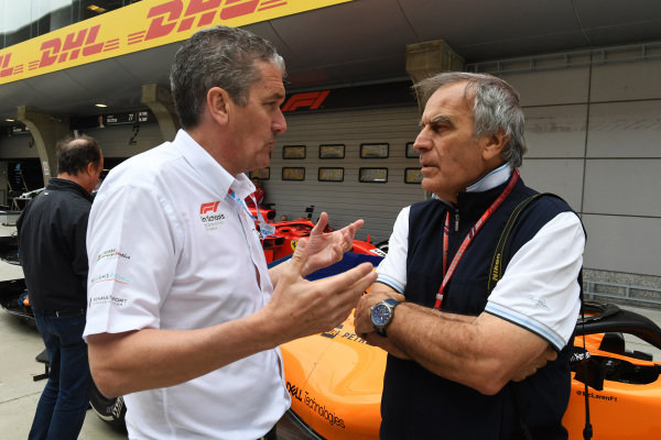 Andrew Denford (GBR) F1 in Schools and Giorgio Piola (ITA) Technical Journalist