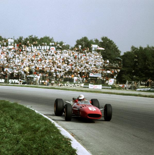 1966 Italian Grand Prix. Monza, Italy. 2-4 September 1966. Ludovico Scarfiotti (Ferrari 312) 1st position for his maiden and only Grand Prix win. Ref-3/2355. World Copyright - LAT Photographic