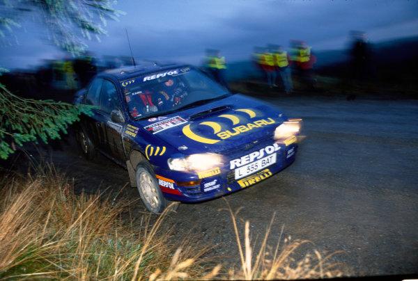 Lombard RAC Rally, Great Britain. 20-23 November 1994.Colin McRae/Derek Ringer (Subaru Impreza 555), 1st position, action.World Copyright: LAT PhotographicRef: 35mm transparency.