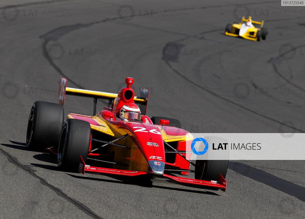 14-15 September, 2012, Fontana, California USACarlos Munoz leads David Ostella.(c)2012, Phillip AbbottLAT Photo USA