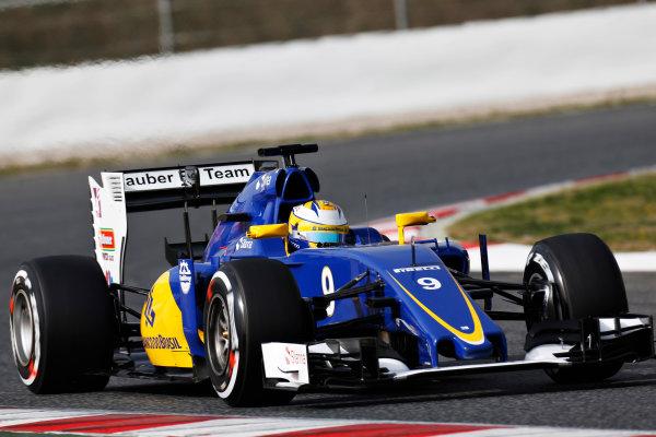 Circuit de Catalunya, Barcelona, Spain Monday 22 February 2016. Marcus Ericsson, Sauber C35 Ferrari. World Copyright: Alastair Staley/LAT Photographic ref: Digital Image _R6T7078