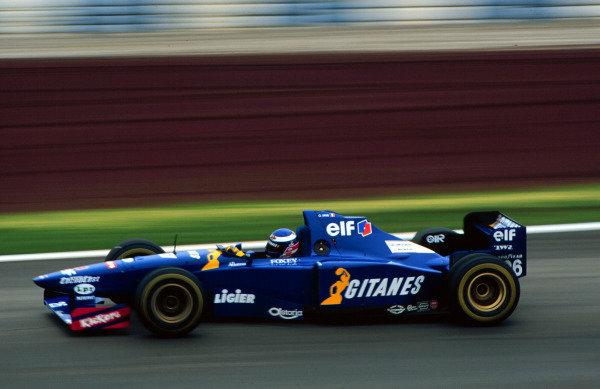 1995 Spanish Grand Prix.Catalunya, Barcelona, Spain.12-14 May 1995.Olivier Panis (Ligier JS41 Mugen-Honda) 6th position.World Copyright - LAT Photographic