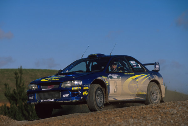 2000 World Rally ChampionshipRound 8, New Zealand Rally14th -16th July 2000Ricahard Burns - Subaru.World - Mcklein / LAT Photographic