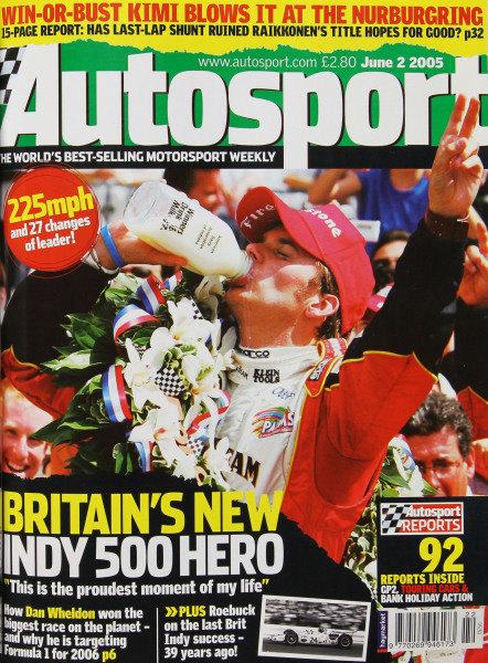 Cover of Autosport magazine, 2nd June 2005