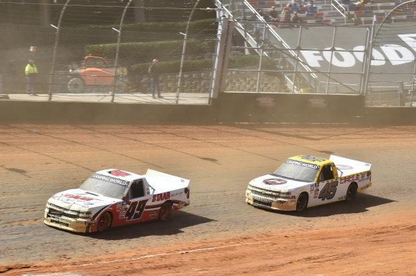 #49: Andrew Gordon, CMI Motorsports, Chevrolet Silverado CMI Insulation #45: Brett Moffitt, Niece Motorsports, Chevrolet Silverado Circle B Diecast