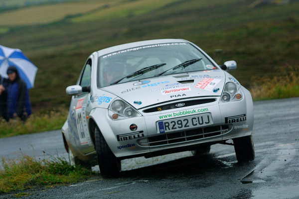 2002 British Rally Championship.Manx International Rally. Douglas, Isle of Man.1-3 August 2002.Shaun Woffinden/Howard Pridmore (Ford Ka) 6th position in the Manx Trophy Rally (& 2nd in the B9 class).Ref-02 MIR 141.World Copyright - Malcolm Griffiths/LAT Photographic