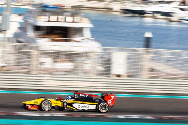 2014 GP2 Series Test 1  Yas Marina Circuit, Abu Dhabi, UAE.  Wednesday 12 March 2014. Jolyon Palmer (GBR) DAMS  Photo: Malcolm Griffiths/GP2 Series Media Service ref: Digital Image F80P5056