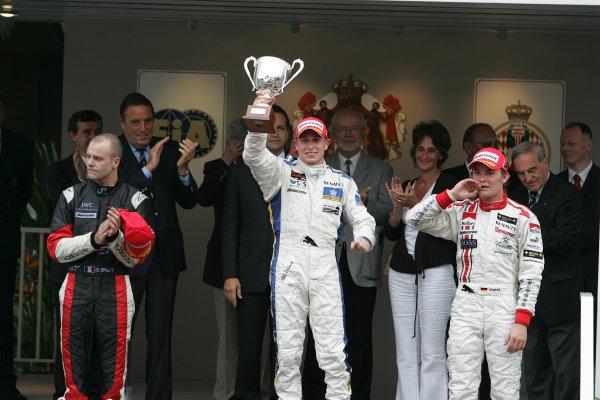 2005 GP2 Series - MonacoMonte-Carlo. 20th & 21st MaySaturday - RaceAdam Carroll (GB, Super Nova International). 1st Gianmaria Bruni (I, Coloni Motorsport). 2nd and Nico Rosberg (D, ART GP). 3rd. Podium