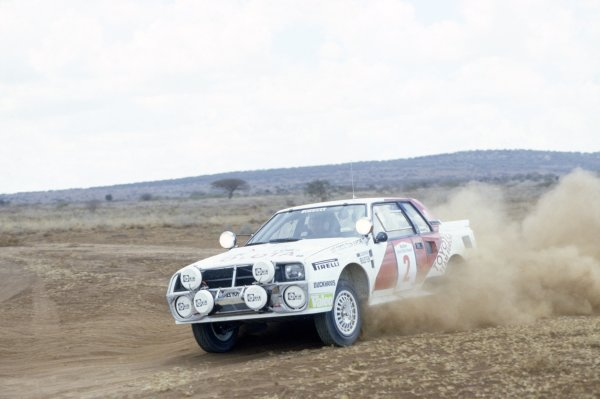 1986 World Rally Championship.Safari Rally, Kenya. 29 March-2 April 1986.Bjorn Waldegaard/Fred Gallagher (Toyota Celica TCT), 1st position.World Copyright: LAT PhotographicRef: 35mm transparency 86RALLY03