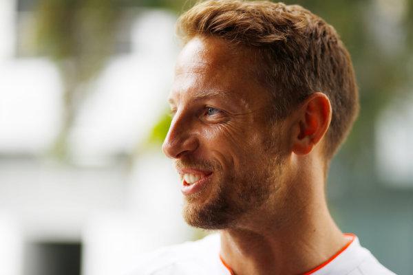 Sepang International Circuit, Sepang, Malaysia. Thursday 29 September 2016. Jenson Button, McLaren. World Copyright: Steven Tee/LAT Photographic ref: Digital Image _O3I9404