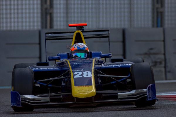 2016 GP3 Series Test 5. Yas Marina Circuit, Abu Dhabi, United Arab Emirates. Thursday 1 December 2016.Tarun Reddy (IND, DAMS)  Photo: Zak Mauger/GP3 Series Media Service. ref: Digital Image _X0W2510