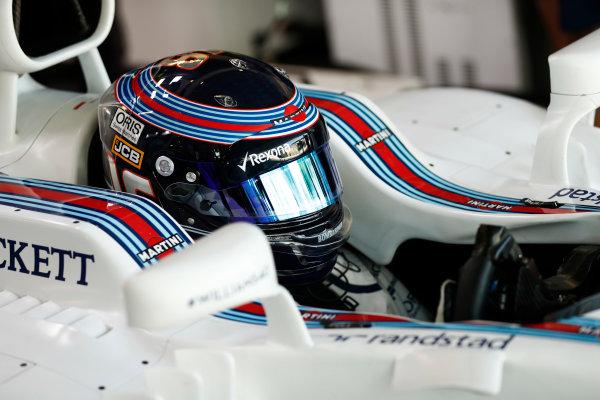 Baku City Circuit, Baku, Azerbaijan. Friday 23 June 2017. Lance Stroll, Williams Martini Racing, in cockpit. World Copyright: Glenn Dunbar/LAT Images ref: Digital Image _31I0434