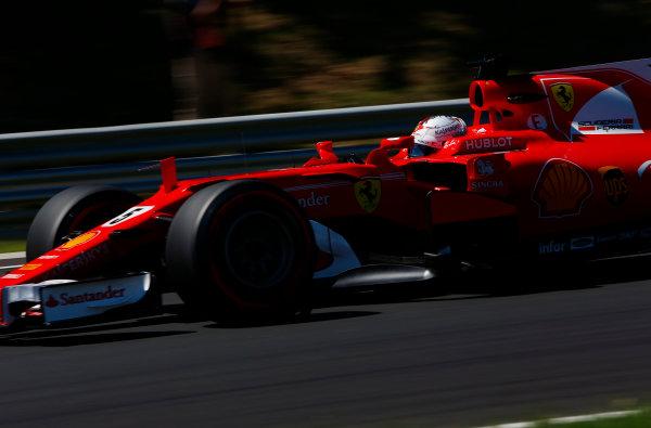 Hungaroring, Budapest, Hungary.  Saturday 29 July 2017. Sebastian Vettel, Ferrari SF70H.  World Copyright: Andy Hone/LAT Images  ref: Digital Image _ONY0965