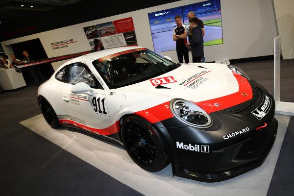 Autosport International Exhibition. National Exhibition Centre, Birmingham, UK. Saturday 13th January 2018. A Porsche on display.World Copyright: James Roberts/JEP/LAT Images Ref: JR2_5118