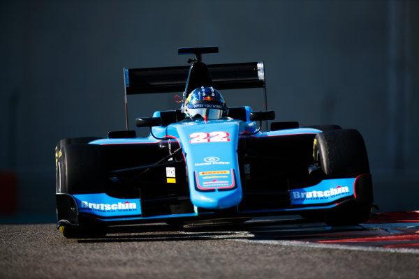 2017 GP3 Series Test 5. Yas Marina Circuit, Abu Dhabi, United Arab Emirates. Thursday 30 November 2017. David Beckmann (DEU, Jenzer Motorsport).  Photo: Joe Portlock/GP3 Series Media Service. ref: Digital Image _L5R2350