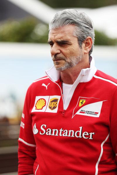 Albert Park, Melbourne, Australia. Wednesday 22 March 2017. Maurizio Arrivabene, Team Principal, Ferrari.  World Copyright: Sam Bloxham/LAT Images ref: Digital Image AJ6I0040