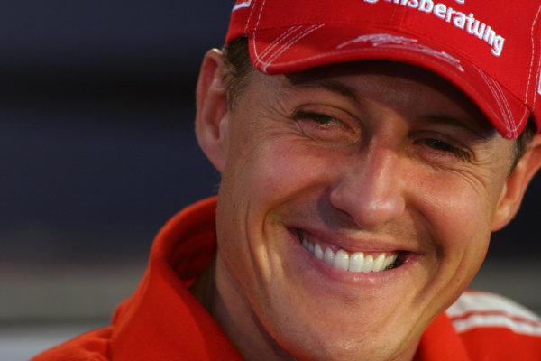 2004 German Grand Prix - Thursday,Hockenheim, Germany. 22nd July 2004 Michael Schumacher, Ferrari F2004, portrait.World Copyright: Steve Etherington/LAT Photographic ref: Digital Image Only