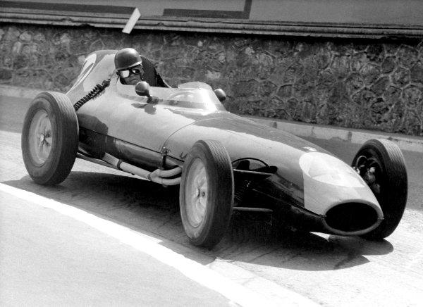 1959 Monaco Grand Prix.Monte Carlo, Monaco. 10 May 1959.Bruce Halford (Lotus 16-Climax).World Copyright: LAT Photographicref: B&W Print, 40mb RGB scan