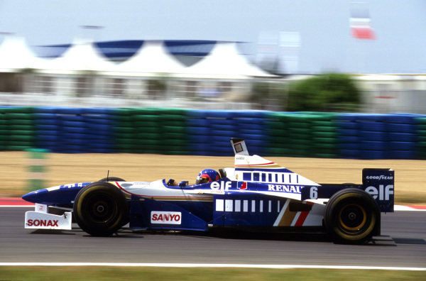 Magny-Cours, France.28-30 June 1996.Jacques Villeneuve (Williams FW18 Renault) 2nd positionRef-96 FRA 19.World Copyright - LAT Photographic